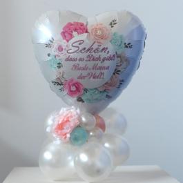 Schön, dass es Dich gibt! Beste Mama der Welt Tischdekoration aus Luftballons zum Muttertag