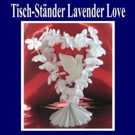 Tischdekoration-Hochzeit-Tisch-Staender-Lavender-Love