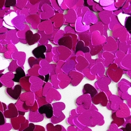 Streudeko, Herzkonfetti, Tischkonfetti, Herzen in Pink