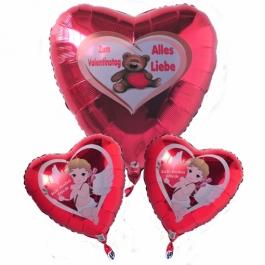Valentinstag, schwebende Helium Luftballons, Bouquet 1
