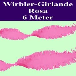 Wirbler Girlande, Papiergirlande, Drehgirlande, Rosa, 6 Meter
