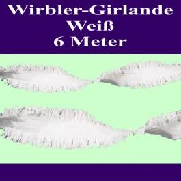 Wirbler Girlande, Papiergirlande, Drehgirlande, Weiß, 6 Meter