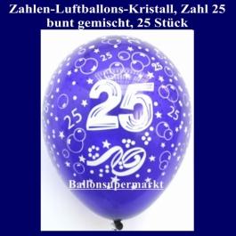 Zahlen-Luftballons, Zahl 25, 25 Stück