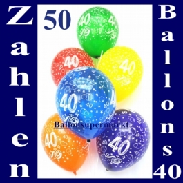 """Luftballons, Latexballons 50 Stück """"40"""""""