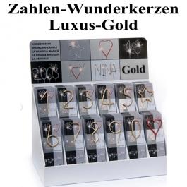 Zahlen-Wunderkerzen Gold