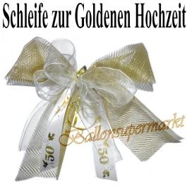 Zierschleife zur Goldhochzeit