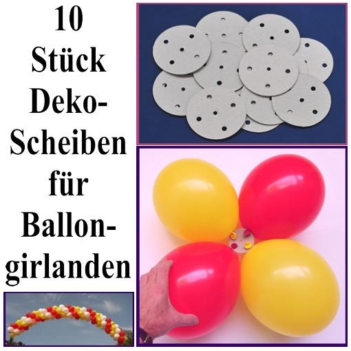 ballonsupermarkt dekoscheiben f r ballongirlanden 10 st ck dekoscheiben f r. Black Bedroom Furniture Sets. Home Design Ideas