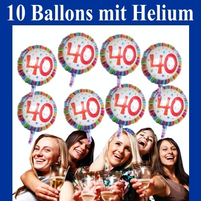Ballonsupermarkt geburtstag 40 for Geburtstagsdeko 1 geburtstag