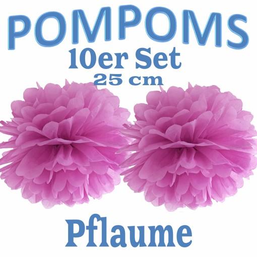 Pom Poms 10 Stück Gelb 25 cm Dekoration Geburtstag Hochzeit Taufe