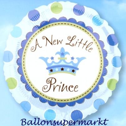 luftballon zu geburt und taufe eines jungen a new little prince ballon mit ballongas helium. Black Bedroom Furniture Sets. Home Design Ideas