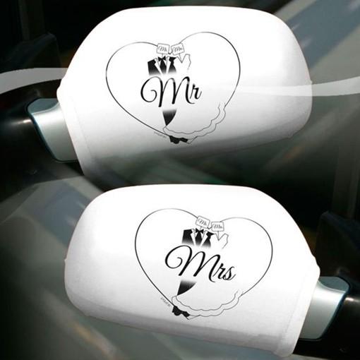 Autospiegel Uberzieher Mr Mrs Hochzeit Ballonsupermarkt Onlineshop De