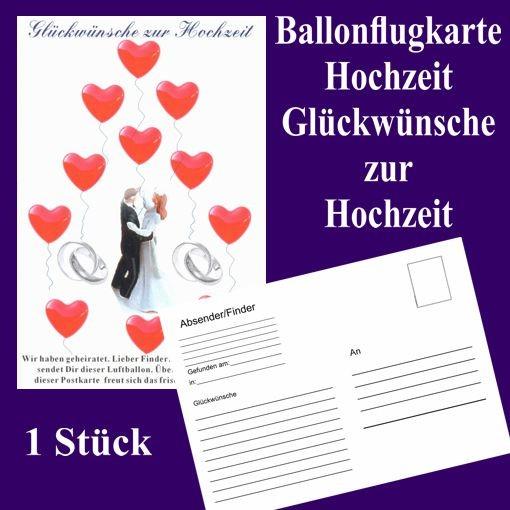 Wünsche Zur Hochzeit Karte.Ballonflugkarte Hochzeit Glückwünsche Zur Hochzeit 1 Postkarte Zur