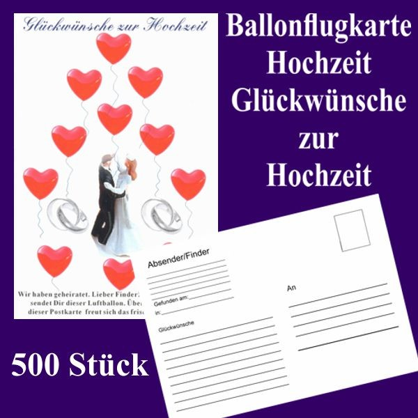 ballonflugkarten hochzeit gl ckw nsche zur hochzeit 500 postkarten zur aktion luftballons mit. Black Bedroom Furniture Sets. Home Design Ideas