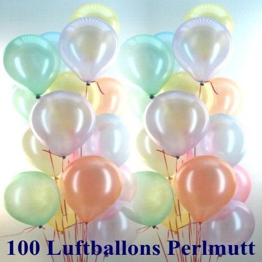 ballonsupermarkt maxi set 11 100 luftballons perlmutt mit helium farbauswahl. Black Bedroom Furniture Sets. Home Design Ideas