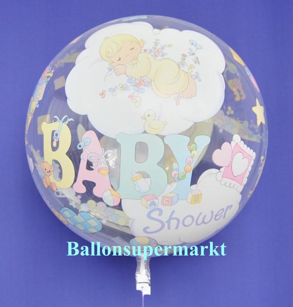 ballonsupermarkt bubble luftballon zu geburt und taufe baby shower mit helium. Black Bedroom Furniture Sets. Home Design Ideas