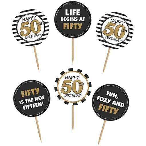 ballonsupermarkt cupcake topper zahl 50 kuchendekoration zum 50 geburtstag. Black Bedroom Furniture Sets. Home Design Ideas