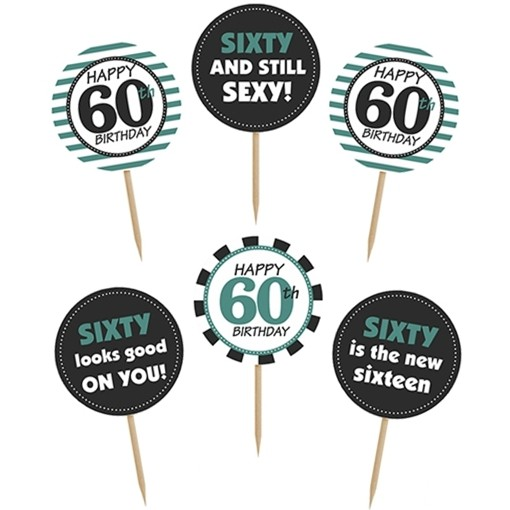 Cupcake Topper Zahl 60 Kuchendekoration Zum 60 Geburtstag