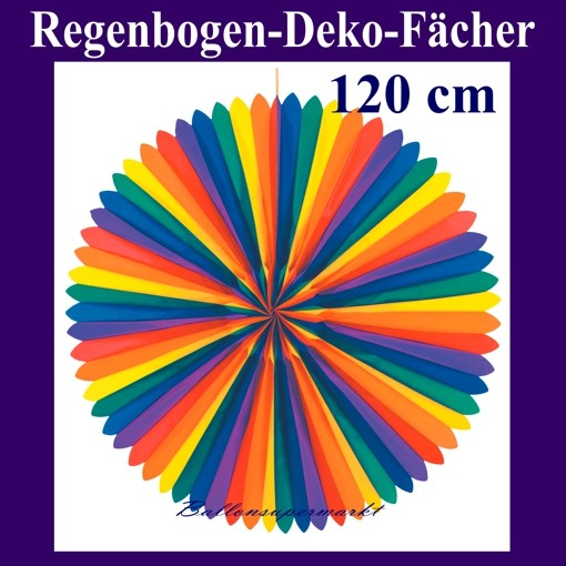 Ballonsupermarkt deko f cher regenbogen for Regenbogen dekoration