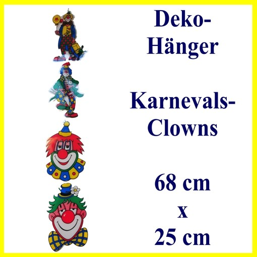 ballonsupermarkt deko h nger mit 4 clowns. Black Bedroom Furniture Sets. Home Design Ideas