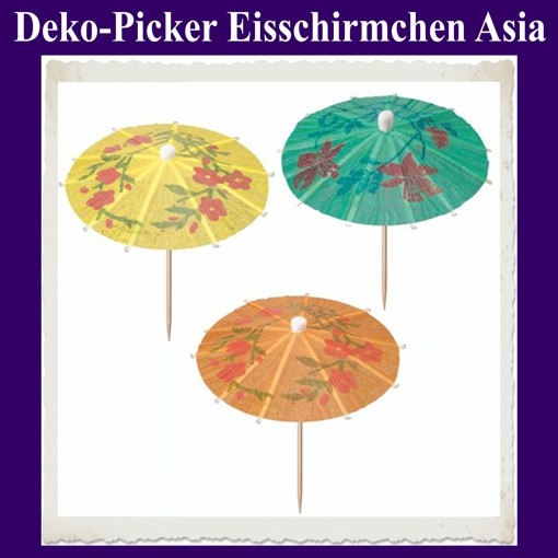 ballonsupermarkt deko picker eisschirmchen asia 6 st ck party tischdekoration. Black Bedroom Furniture Sets. Home Design Ideas