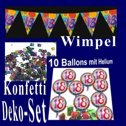 Ballonsupermarkt geburtstag set i for 18 geburtstag dekoration set