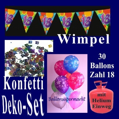ballonsupermarkt geburtstagsdeko set 3. Black Bedroom Furniture Sets. Home Design Ideas