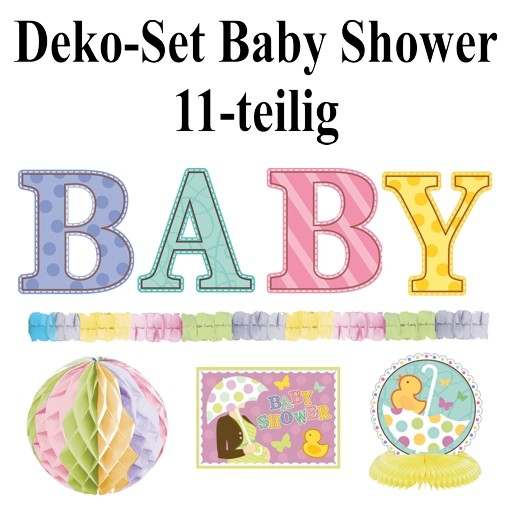 Ballonsupermarkt geburt dekoration set for Baby deko