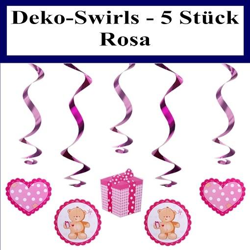 Dekoration Taufe Mädchen: Deko Swirls Baby Shower Party Rosa