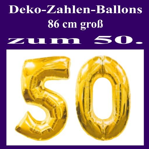 Goldene Hochzeit Folienballon Deko Mit Der Zahl 50