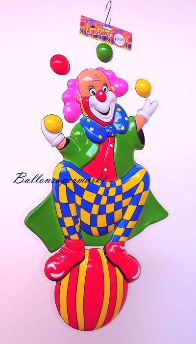 Ballonsupermarkt clown jongleur for Dekoration karneval