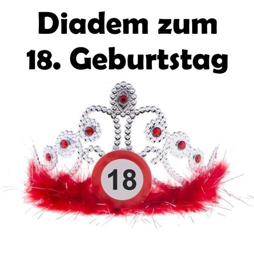 Ballonsupermarkt diadem zum 18 geburtstag for Dekoration zum 18 geburtstag