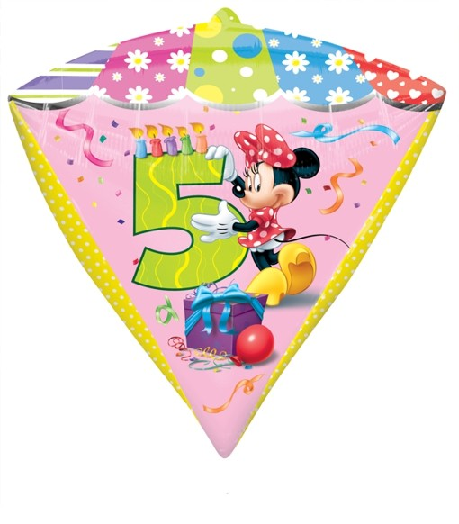 Diamondz Folienballon Minnie Mouse 5 Geburtstag Folienballon Mit