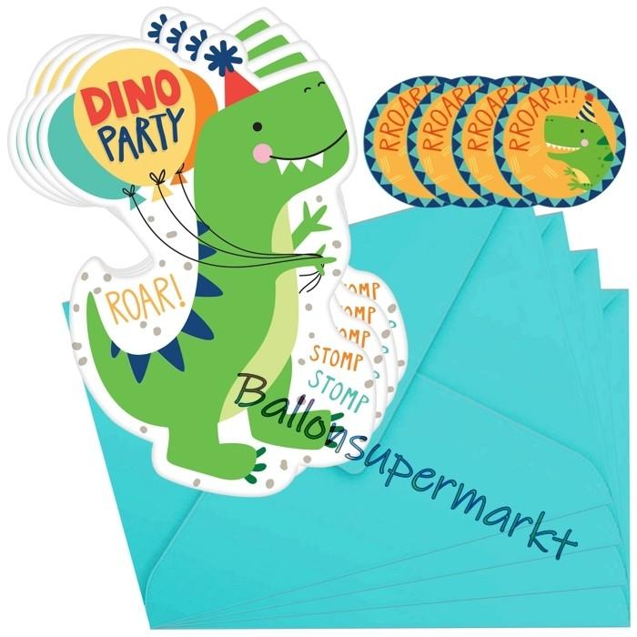 dino-mite einladungskarten zum dinosaurier