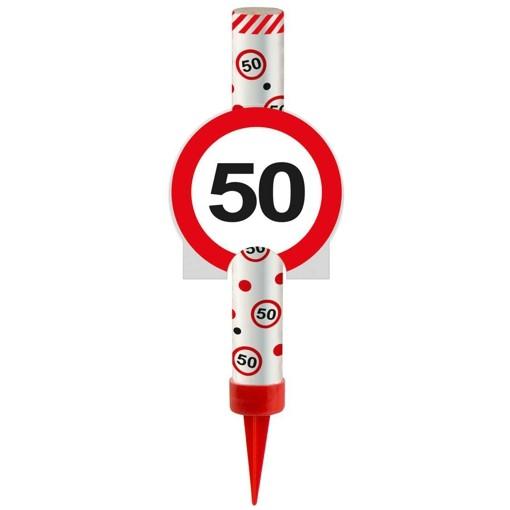 Ballonsupermarkt eisfont ne verkehrsschild - Dekoration zum 50 geburtstag ...