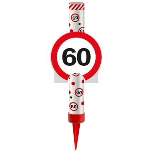 Ballonsupermarkt eisfont ne verkehrsschild for 60 geburtstag dekoration