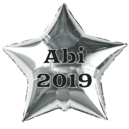 ABI 2019 Folienballons 40cm und 100cm Heliumballon Abitur Luftballon Buchstaben