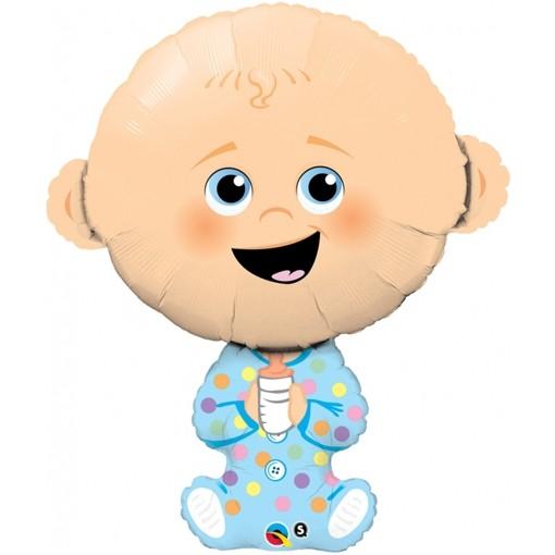 ballonsupermarkt baby boy gro er luftballon mit helium zur geburt. Black Bedroom Furniture Sets. Home Design Ideas