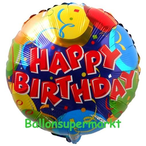Geburtstags Luftballon Balloons Confetti Happy Birthday Ohne Helium Ballongas