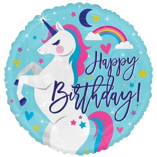 Folienballon Einhorn Happy Birthday Folienballon Mit Ballongas