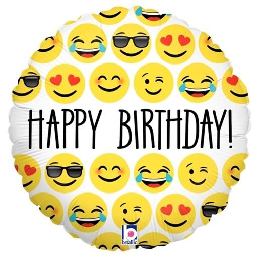 Geburtstags Luftballon Happy Birthday Mit Emojis Ohne Helium