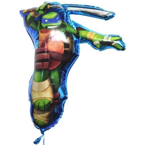 folienballon teenage mutant ninja turtles leonardo folienballon ohne ballongas ballonsupermarkt. Black Bedroom Furniture Sets. Home Design Ideas