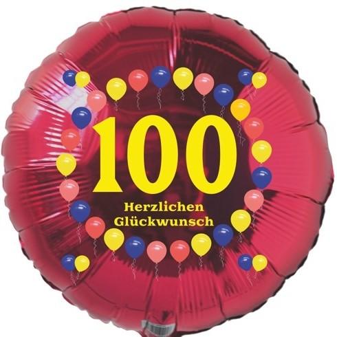 Möbel & Wohnen Folienballon zum 100.Geburtstag 86cm Gold Silber Helium Luftballon Geschenk Deko Party- & Eventdekoration