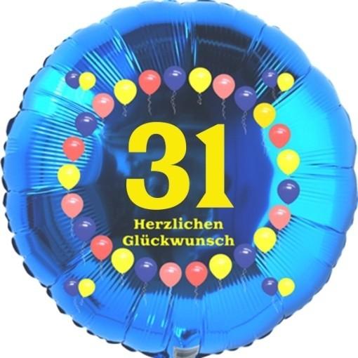 Luftballon Aus Folie 31 Geburtstag Herzlichen Glückwunsch