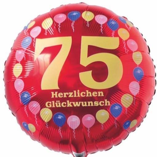 Luftballon Aus Folie 75 Geburtstag Herzlichen Glückwunsch Ballons