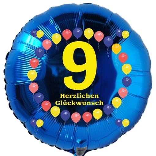 Luftballon Aus Folie 9 Geburtstag Herzlichen Glückwunsch