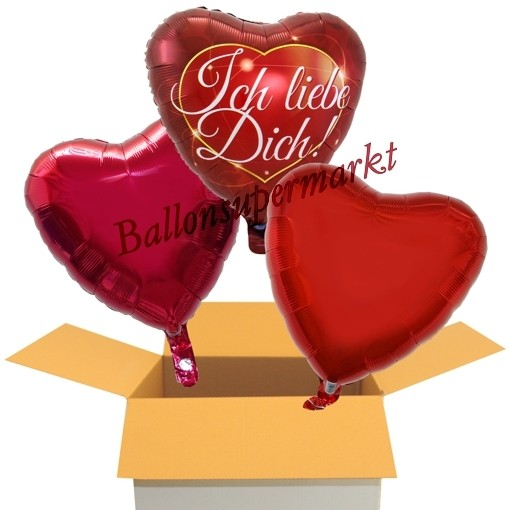 3x Helium Folienballons 45cm Herzen Luftballons Party Hochzeit Liebe balloon