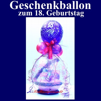 ballonsupermarkt geschenkballon zum 18. Black Bedroom Furniture Sets. Home Design Ideas
