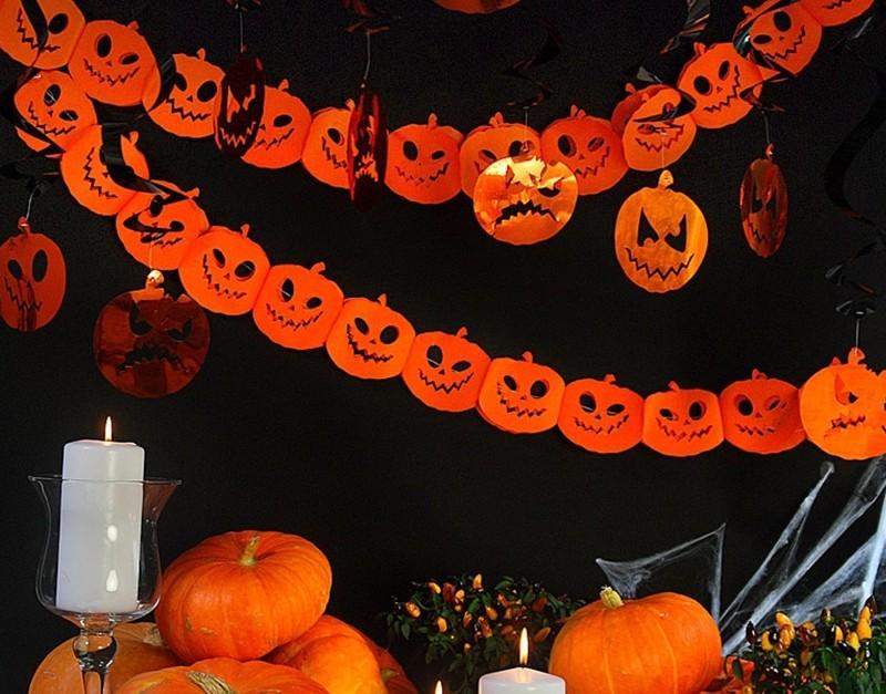 K rbis girlande halloween partydeko halloween partydeko - Halloween girlande ...