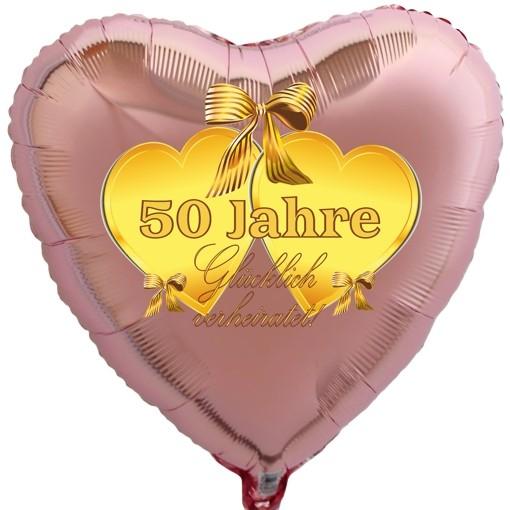 Herzballon 50 Jahre Glucklich Verheiratet Folienballon Mit