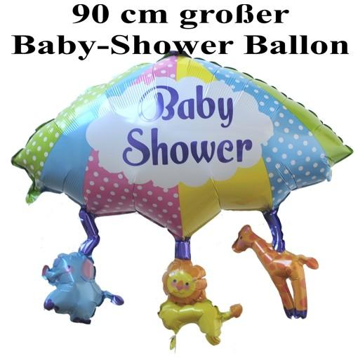 baby shower gro er shape luftballon aus folie mit helium folienballons geburt. Black Bedroom Furniture Sets. Home Design Ideas